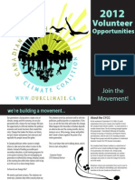Canadian Youth Climate Coalition 2012 Volunteer Guide