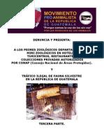 TRÁFICO ILEGAL DE FAUNA SILVESTRE EN LA REP. DE GUATEMALA. P3.