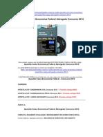 Concurso Caixa Economica Federal Especifico Cargo Advogado 2012