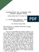 Antonio Cornejo Polar. La Literatura Peruana
