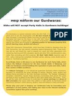 Satkaar Campaign Beadbi Leaflet