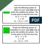 System of Equations Scavenger Hunt Cards