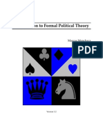 Intro to Formal Political Theory