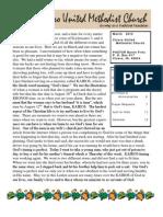 March 2012 Newsletter