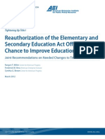 Reauthorization of the Elementary and Secondary Education Act Offers a New Chance to Improve Education