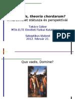 Takács Gábor előadása a húrelméletről a Szkeptikus Klubon