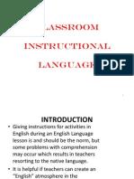Wk4 Classroom Instructional Language