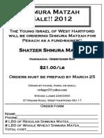 Matzah 2012 - Order Form