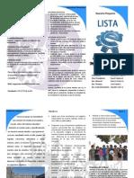 Triptico Lista E CAA MEC 2012