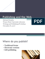 Publishing and the Web