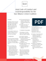 Global Code of Conduct and Social Responsibility for the Star Alliance Union Coalition