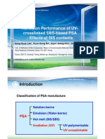 Adhesion Performance of UV-Crosslinked SBS-Based PSA -Effects of SIS Contents
