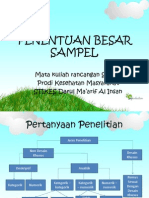 penentuan besar sampel