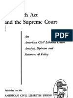 1952 Smith Act & Supreme Court