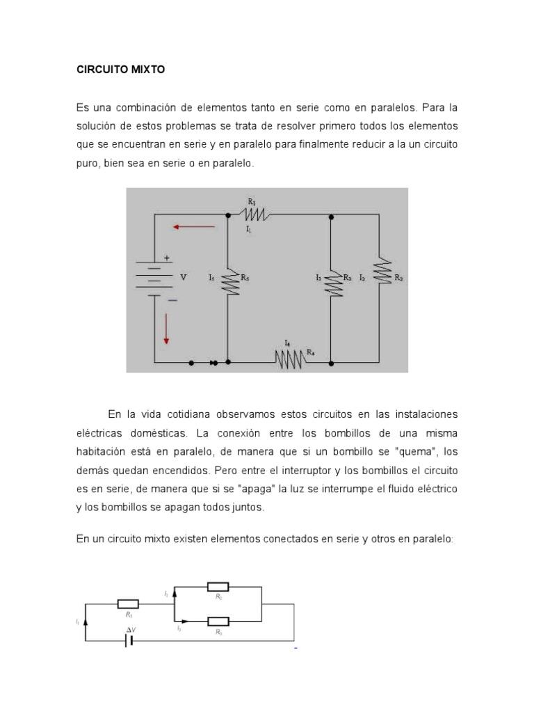 Circuito Hidraulico Mixto : Circuito mixto