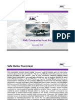 IR Presentation AML Communications