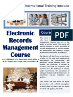Course Outline - Electronic Records Management Course