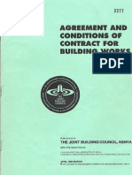 Standard Contract for Kenya (Architect and Employer)