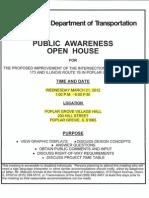 IDOT Public Awareness Open House