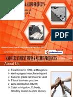 Madhuri Cement Pipes & Allied Products Karnataka  INDIA