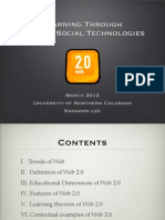 Learning Through Web 2.0 Social Technologies