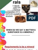 LEC 6; Minerals