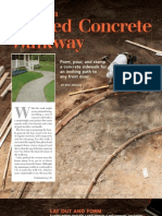 Creating a Curved Concrete Walkway