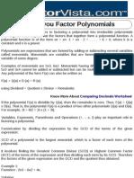 How Do You Factor Polynomials
