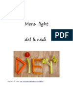 menu light del lunedì