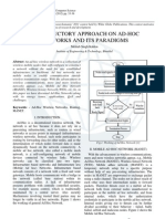 Introductory Approach on Ad-hoc Networks and its Paradigms