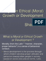 Stages in Ethical Growth