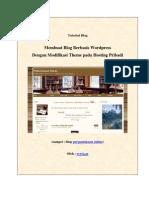 Tutorial, Membuat Blog Berbasis Wordpress Dengan Modifikasi - Evyta a.R