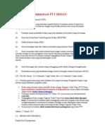Persyaratan Administrasi PTT BIDAN