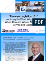 Reverse Logistics 101 - Mark Millar CILT HK 0212 FINAL Circ