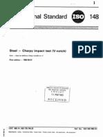ISO 148 - Steel Charpy Impact Test (v-Notch)