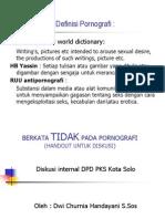Definisi Pornografi