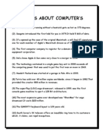 Facts About Computer