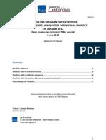 Panel JDE TMO Régions vague 4 opinion sur la TVA sociale et les accords competitivite emploi
