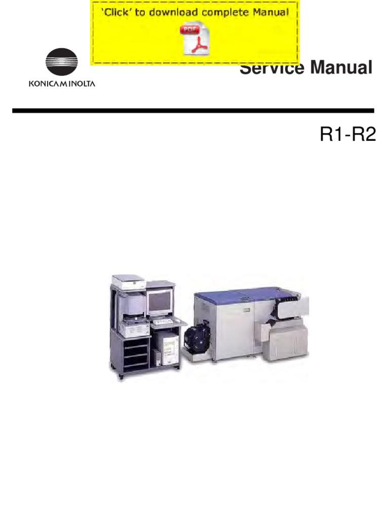 konicaminolta r1 r2 service manual pages image scanner backup rh es scribd com