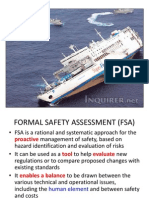 Formal  safety assessment  (FSA) explained in simple words