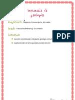 Imprimible de Geologia - Indice de Contenidos