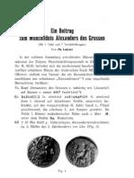 Ein Beitrag zum Münzbildnis Alexanders des Grossen / von Ph. Lederer