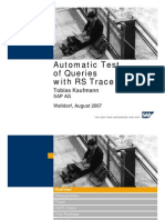 Automatic Query Test With RSTT - Webinar Presentation