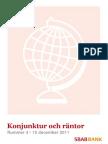 SBAB Bank Konjunktur och räntor 4/2011