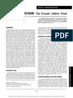 Female Athelet Triad