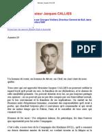Biographie Jacques CALLIES - président Bull sous l'occupation