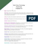 Language Arts 7, Short Story Terminology