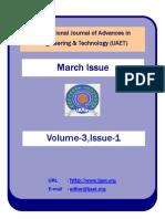International Journal of Advances in Engineering & Technology (IJAET) Volume 3 Issue 1