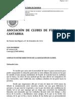 Carta a Luis Merino Arce Borrar