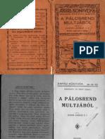 Gyenis András - A Pálos rend múltjából 1930.